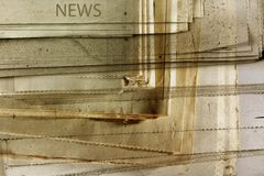 Old news. Montage of old grunge newspapers Stock Images