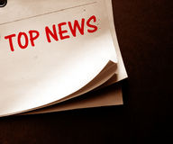 Old news paper Royalty Free Stock Images