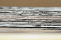 Old newspaper. Pile of old newspaper paper for recycling Stock Image