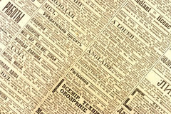 Old newspaper Royalty Free Stock Photography