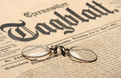 Old newspaper background Stock Image