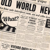 Old newspaper design vector template. Royalty Free Stock Images
