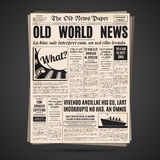 Old newspaper design vector template. Royalty Free Stock Photos
