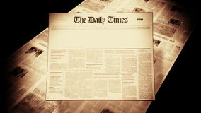 Old Newspaper Headline (Blank) stock footage