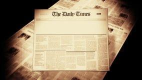 Old Newspaper Headline (Blank) stock footage