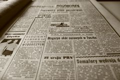 Old Newspaper, Newspaper, The 1960S Stock Image