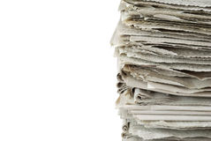 Old newspapers Royalty Free Stock Images
