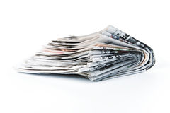 Old newspapers Stock Image