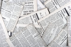 Old newspapers. Background of old vintage newspapers Stock Photos