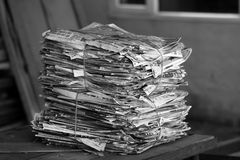 Old newspapers Stock Images