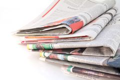 Old newspapers and magazines Royalty Free Stock Images
