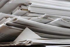 Old newspapers stack Royalty Free Stock Photo