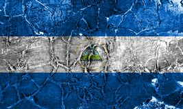 Old Nicaragua grunge background flag.  stock images