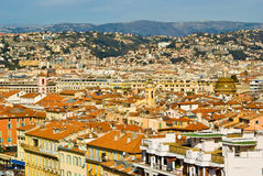 Old Nice. Old town in Nice, France royalty free stock photos