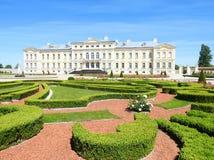 Old beautiful Rundale palace building, Latvia Royalty Free Stock Image