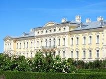 Old beautiful Rundale palace building, Latvia Stock Photos