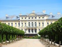 Old beautiful Rundale palace building, Latvia Stock Images