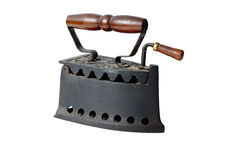 An old nice rusty iron. A wonderful old heavy iron Stock Images