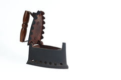 An old nice rusty iron. A wonderful old heavy iron royalty free stock photography