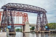 Avellaneda bridge in Buenos Aires, Argentina. Royalty Free Stock Image