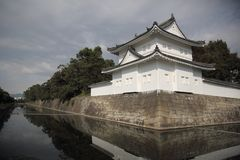 the old nijo castle and moat Kyoto Japan stock images