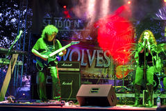 Old No 7 Performing Live at Seawolves Stock Images