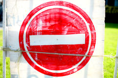 Old no entry Royalty Free Stock Photography