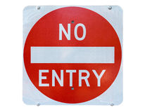 Old no entry traffic sign Stock Images