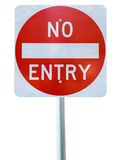Old no entry traffic sign Royalty Free Stock Photo