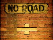 A old no road sign Stock Image