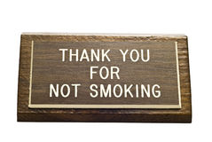 Old No Smoking Desk Sign Stock Photography