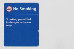 Old No Smoking Sign Stock Image