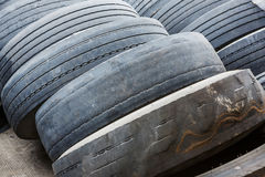 Old and no tread tires Royalty Free Stock Photos