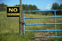 Old No Trespassing Sign Royalty Free Stock Photography