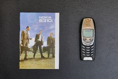 Old Nokia mobile phone Royalty Free Stock Image