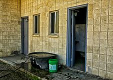 Outhouse stock image