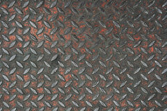 Old non-skid metal. Painted diamond plate background texture Stock Images