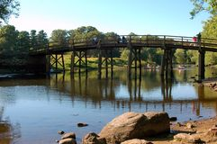 Historic Old North Bridge in Concord Mass. Royalty Free Stock Image