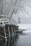 Old north bridge in snow Royalty Free Stock Photo