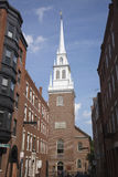 The Old North Church. Officially known as Christ Church in the city of Boston. On April 18, 1775, the church was the site of two lanterns that warned Paul stock images