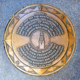 Old North Church Road Marker, Boston, USA Royalty Free Stock Images