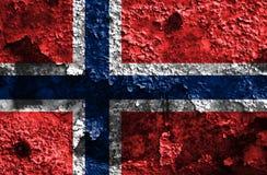 Old Norway grunge background flag.  Stock Photography