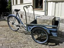 Old Norwegian traditional tricycle Royalty Free Stock Photos