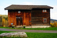 Old norwegian wooden house Stock Images