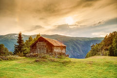 Old Norwegian Wooden House Stock Photography