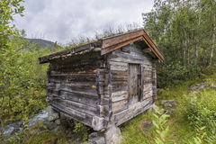 Old Norwegian Wooden Shed Stock Photo