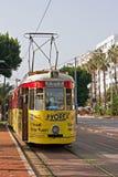 Old nostalgic public transport tram in Antalya Turkey Royalty Free Stock Image