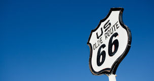 An old, nostalgic  sign on historic Route 66 Stock Photos