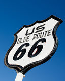 An old, nostalgic  sign on historic Route 66 Stock Images