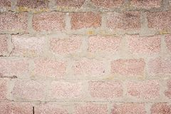 An old not plastered wall Royalty Free Stock Image